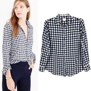 J. Crew Gingham Classic Button Down Shirt Boy Fit